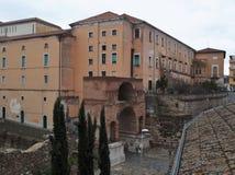 Slott för Benevento - båge av Sacramento och ärkebiskop` s Royaltyfria Foton