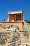 slott för crete iraklionknossos Arkivbild