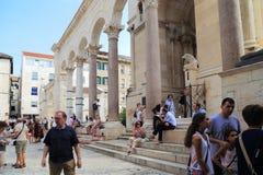 Slott för Diocletian ` s, splittring, Kroatien Royaltyfri Fotografi