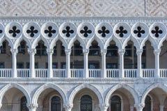 Slott för doge` s i fyrkant för St Mark ` s i Venedig, Italien Arkivbilder
