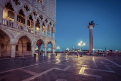 Slott för doge` s i piazza San Marco Arkivfoton