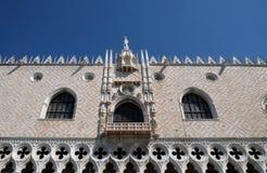Slott för doge` s i Venedig Arkivfoto