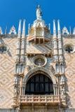 Slott för doge` s i Venedig, Italien Arkivfoto
