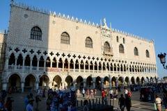 Slott för doge` s i Venedig, Italien Fotografering för Bildbyråer