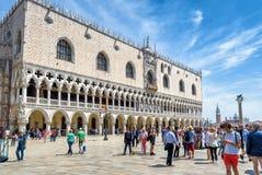 Slott för doge` s i Venedig, Italien Royaltyfria Bilder