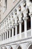 Slott för doge` s på piazza San Marco, fasad, Venedig, Italien Royaltyfri Fotografi