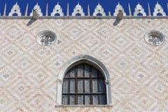 Slott för doge` s på piazza San Marco, fasad, Venedig, Italien Arkivbilder