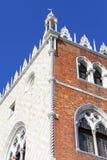 Slott för doge` s på piazza San Marco, hörnhus, Venedig, Italien Arkivfoton