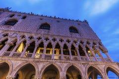 Slott för doge` s på piazza San Marco i Venedig Arkivbild