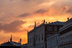 Slott för doge` s, Venedig, Italien Arkivfoton