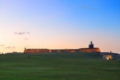 Slott för El Morro på gamla San Juan Arkivbild