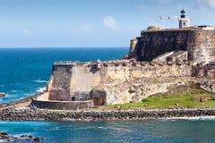 Slott för El Morro, San Juan, Puerto Rico Fotografering för Bildbyråer