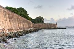 Slott för El Morro, San Juan, Puerto Rico Arkivfoto