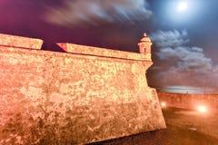 Slott för El Morro, San Juan, Puerto Rico Arkivbild