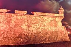 Slott för El Morro, San Juan, Puerto Rico Arkivbilder