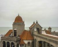 Slott för El Torreon i Mar del Plata Arkivbild