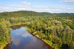 Slott för flod Gauja och Turaida Fotografering för Bildbyråer