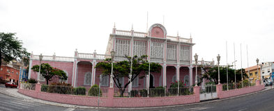Slott för folk` s, Sao Vicente, Mindelo Arkivbild