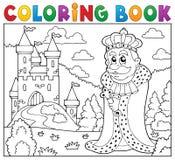 Slott för konung för färgläggningbok near vektor illustrationer