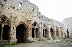 Slott för Krak des-Chevaliers - Syrien Royaltyfri Fotografi