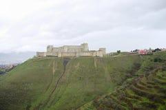 Slott för Krak des-Chevaliers - Syrien Royaltyfria Bilder