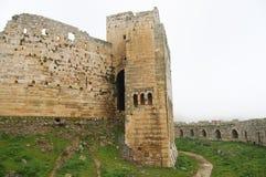 Slott för Krak des-Chevaliers - Syrien Royaltyfri Bild