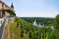 Slott för MÄ-› lnÃk och flodföreningspunkt, Tjeckien arkivbilder