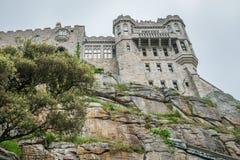 Slott för monteringsSt Michael bergstopp royaltyfria bilder