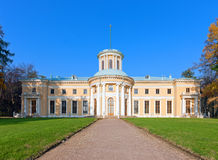 slott för museum för arkhangelskoyegods storslagen Arkivfoton