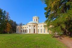 slott för museum för arkhangelskoyegods storslagen Royaltyfria Bilder