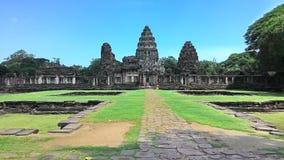 Slott för Pimai slottpimai i Thailand gräsplanträd arkivfoton