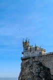 Slott för rede för svala` s royaltyfria bilder