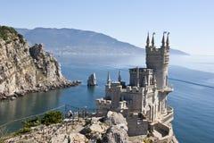 Slott för rede för svala` s liten i Krim royaltyfri foto