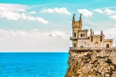 Slott för rede för svala` s på en vagga yalta Gaspra crimea fotografering för bildbyråer