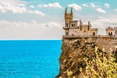 Slott för rede för svala` s på en vagga yalta Gaspra crimea royaltyfria bilder