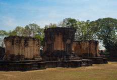 Slott för Sa Kampheang Yai Arkivbild