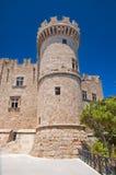 Slott för storslagen förlage för riddare. Rhodes Island Grekland. Royaltyfria Foton