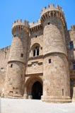 Slott för storslagen förlage för riddare. Rhodes Island Grekland. Royaltyfri Fotografi