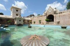 Slott för Taman sarivatten på Yogyakarta Arkivfoton