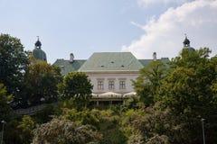Slott för Ujazdà ³w i Warszawa i Polen, Europa arkivbild