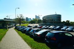 Slott för Vilnius stadsforum på vårtid Arkivfoton