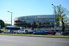 Slott för Vilnius stadsforum på vårtid Arkivbild
