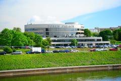 Slott för Vilnius stadsforum på vårtid Royaltyfria Foton
