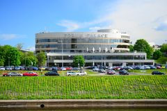 Slott för Vilnius stadsforum på vårtid Royaltyfri Foto