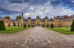 Slott Fontainebleau, Frankrike Arkivfoto