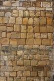 Slott för detalj för textur för stenvägg medeltida Royaltyfri Fotografi