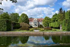 slott för gdansk oliwaopatow Arkivfoton
