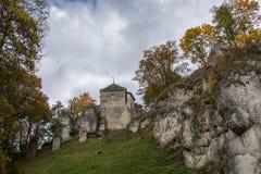 Slott för Ojcà ³w Fotografering för Bildbyråer