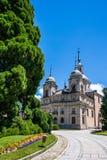 Slott från La Granja de San Ildefonso, Segovia, Spanien Royaltyfria Bilder