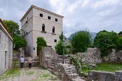 Slott gammal stång, Montenegro Royaltyfri Bild